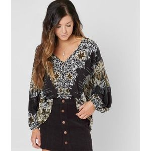 Free People Birds Of A Feather Floral Top Boho